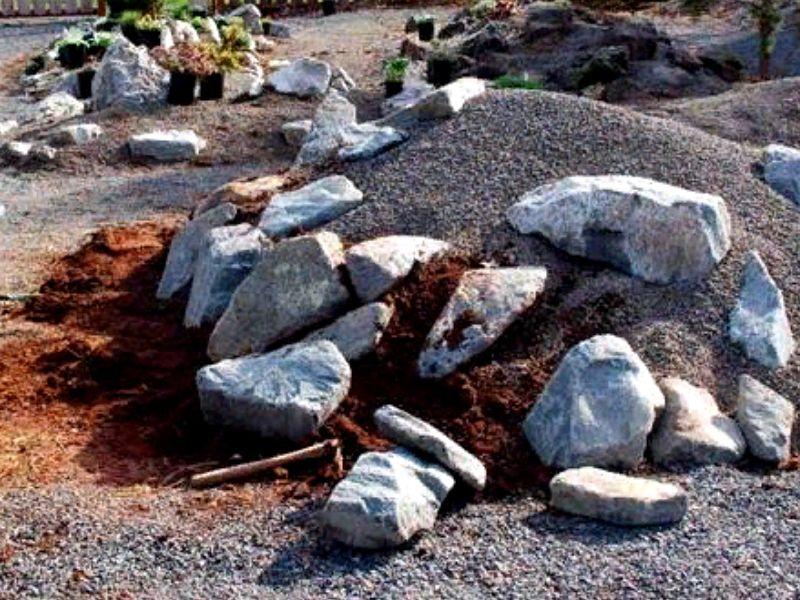 укладка камней для альпинария
