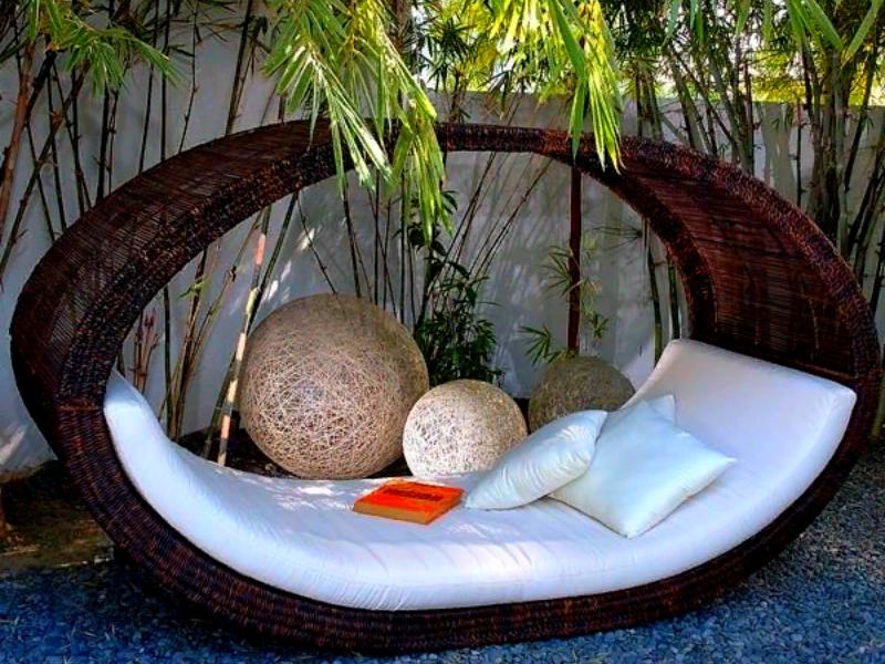 идея интимной зоны отдыха на даче