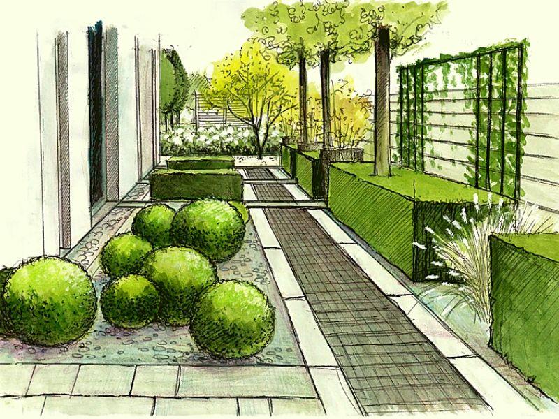 современный ландшафтный дизайн 10 соток