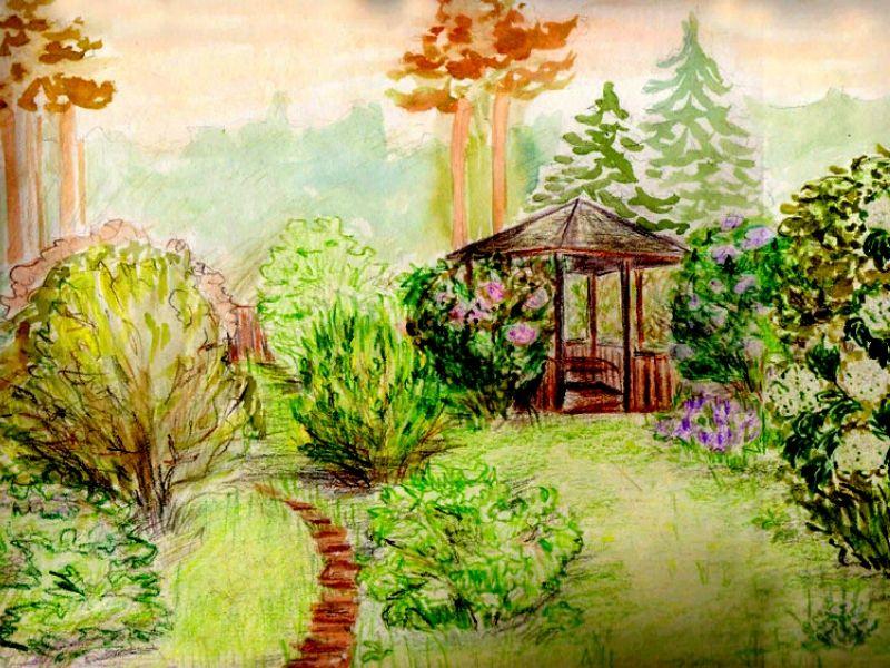 пейзажный стиль в дизайне участка