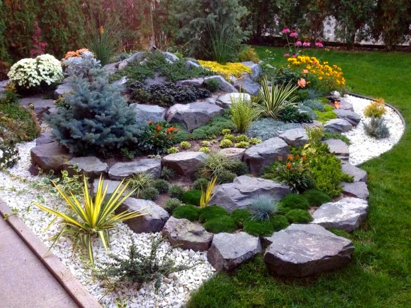 камни - главные объекты  рокария