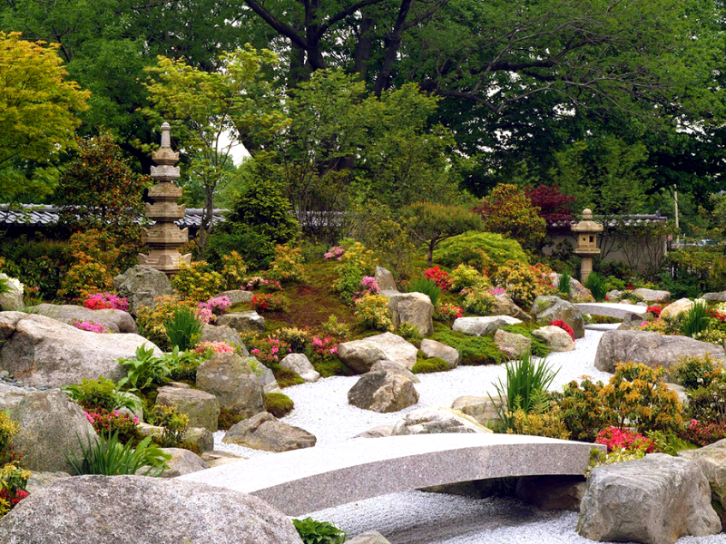 каменный сад в японском стиле