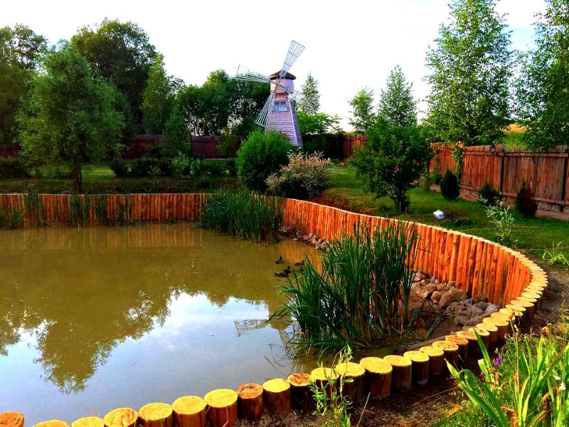 Приемный пруд для сбора грунтовых вод
