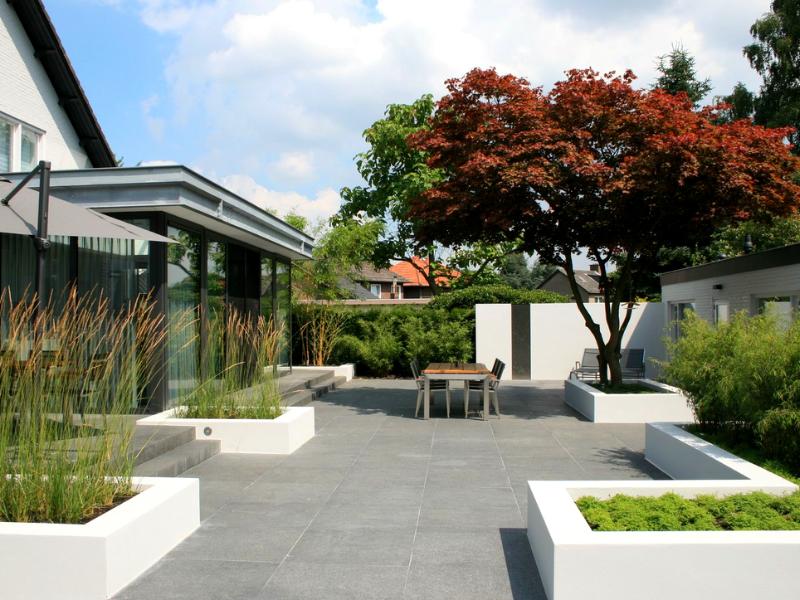 двор в минималистском стиле