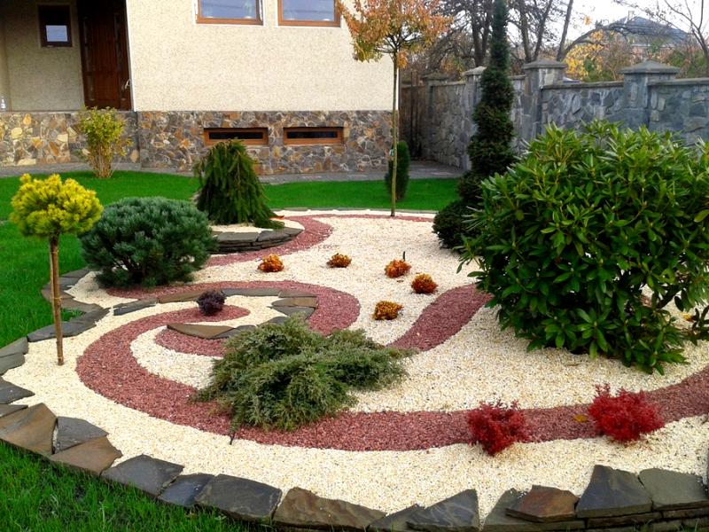 декоративный щебень в ландшафтном дизайне