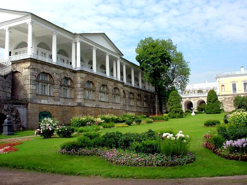 Пример ландшафта в итальянском стиле в России