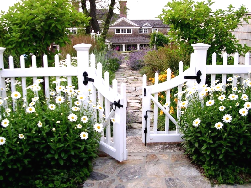 открытый забор для палисадника